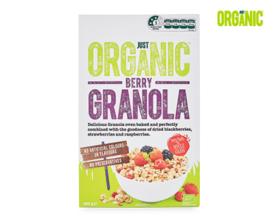 Just Organic Granola 500g Berry