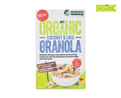 Just Organic Granola 500g Coconut & Chia