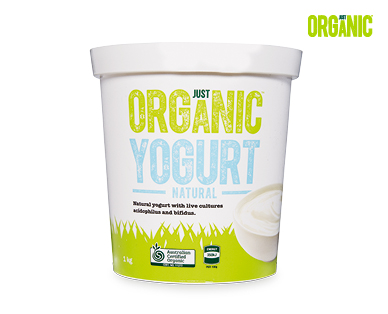 Just Organic Natural Yogurt 1kg