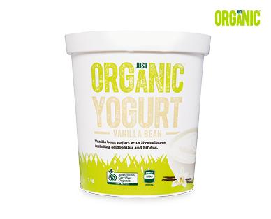 Just Organic Vanilla Bean Yogurt 1kg
