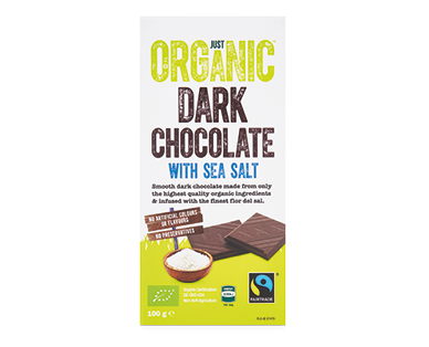 Just Organic Dark Chocolate with Sea Salt 100g