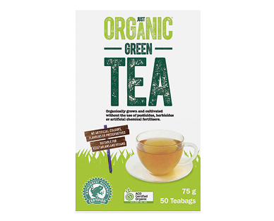 Just Organic Green Tea 50pk/75g