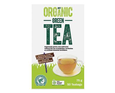 Just Organic Green Tea 50pk/75g