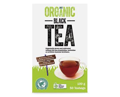 Just Organic Black Tea 50pk/100g