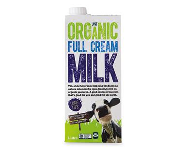 Just Organic UHT Milk 1L