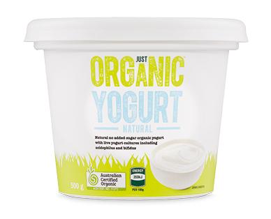Just Organic Natural Yogurt 500g
