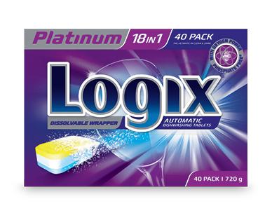 Logix Platinum Dishwashing Tablets 40pk