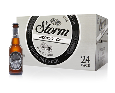 Storm Brewing Co. Premium Super Dry Beer 24 x 330mL