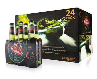 Fraser Briggs Premium Lager 24 x 330mL