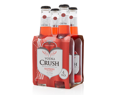 Striganov Vodka Crush Raspberry 4pk