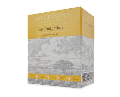 Albertson's Reserve Soft Fruity White Cask 4L