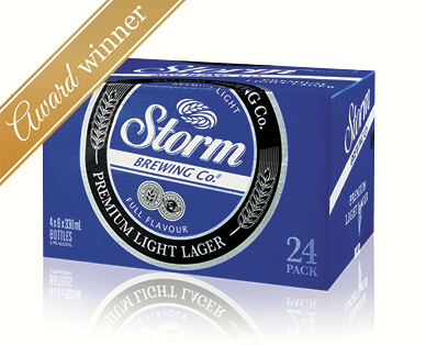 Storm Brewing Co. Premium Light Lager 24 x 330mL