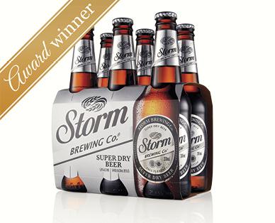Storm Brewing Co. Premium Super Dry Beer 6 x 330mL