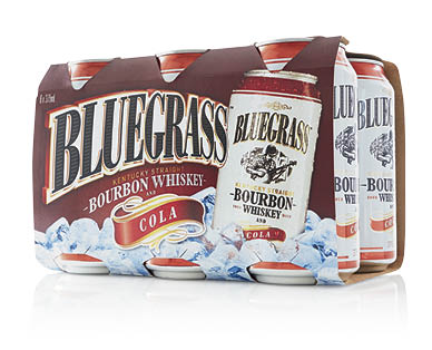 Bluegrass Kentucky Straight Bourbon Whiskey & Cola 6pk