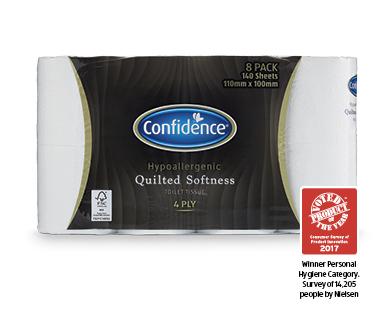 Confidence Toilet Tissue 4ply Hypoallergenic FSC Certified 8pk
