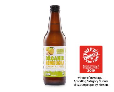 Just Organic Kombucha - Ginger Lemon
