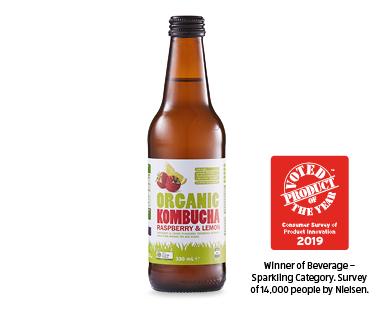 Just Organic Kombucha - Raspberry Lemon