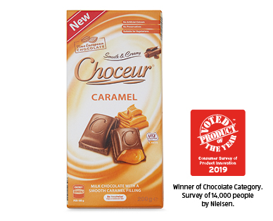 Choceur Caramel Filled Milk Chooclate 200g