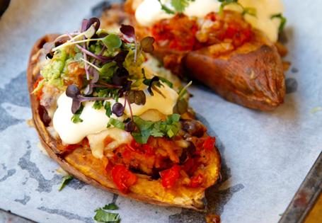 Sweet Potato Jacks With Mexican