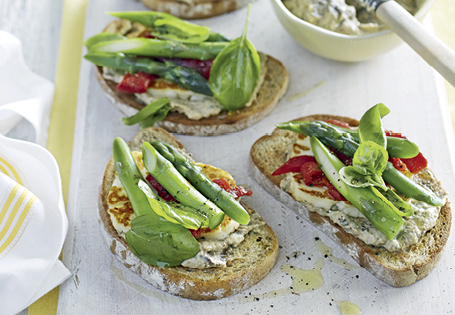 Haloumi & Eggplant Bruschetta ALDI Australia