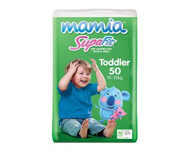 Mamia Unisex Toddler Nappies 10-15kg 50pk