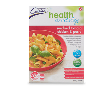 Health & Vitality Sundried Tomato Chicken and Pasta 370g