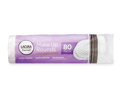 Lacura Essentials Make Up Rounds 80pk