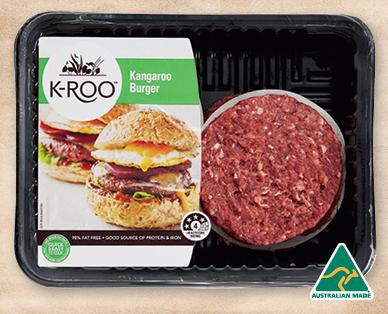 K-Roo Kangaroo Burger 4pk/440g