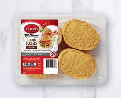 Ingham's Chicken Burgers Bulk Pack 12pk/1kg