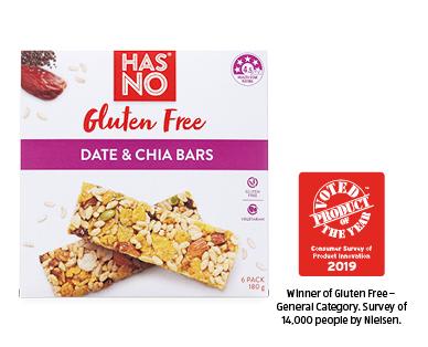 Has No Gluten Free Date & Chia Bars 6pk / 180g