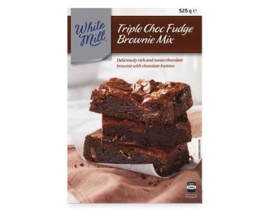White Mill Triple Choc Fudge Brownie Mix 525g