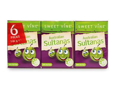 Sweet Vine Australian Sultanas Snack Pack 6pk/240g