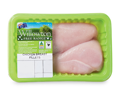 Willowton Free Range Chicken Breast Fillets per kg