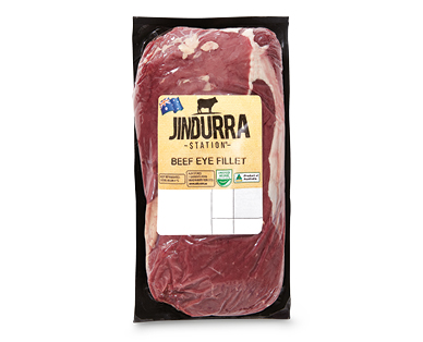 Jindurra Station Beef Eye Fillet per kg
