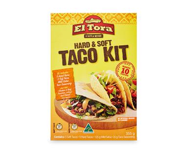 El Tora Hard & Soft Taco Kit 355g