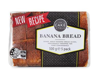 The Cake Stall Banana Bread Slices 5pk/500g