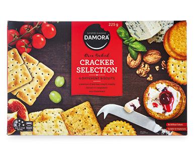 Damora Satisfied Snacking Cracker Selection 225g