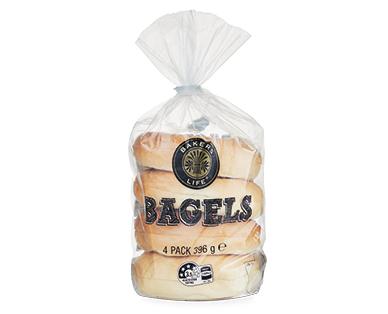 Bakers Life Bagels 4pk/396g