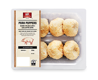 KRC Pork Poppers with Garlic Butter 320g
