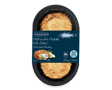 The Fishmonger Melt in the Middle Fish Cakes 2pk/290g