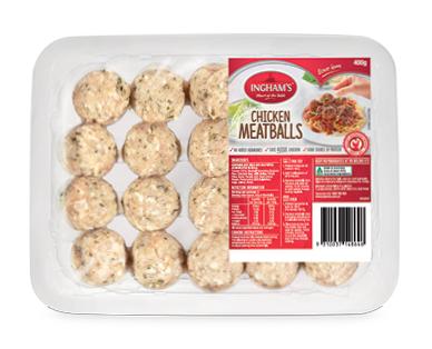 Ingham's Fresh Chicken Meatballs 400g