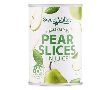 Sweet Valley Australian Pear Slices in Juice 410g