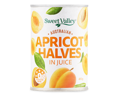 Sweet Valley Apricot Halves in Juice 410g