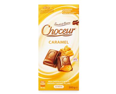 Choceur Caramel Filled Chocolate Block 200g