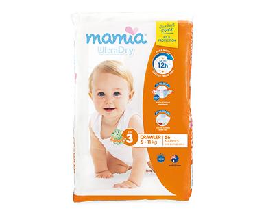 MAMIA® Unisex Crawler Nappies 6kg-11kg 56pk