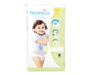 MAMIA® Unisex Toddler Nappies 10kg-15kg 50pk