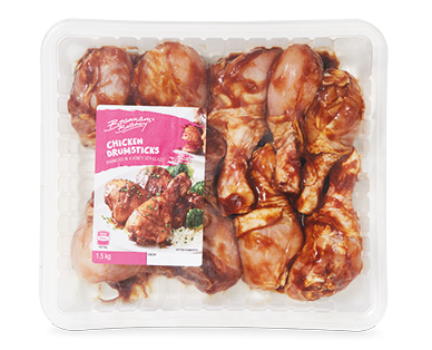 Brannans Butchery Chicken Drumsticks Honey Soy 1.5kg