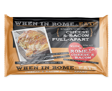 When In Rome Cheese & Bacon Pull-Apart 325g