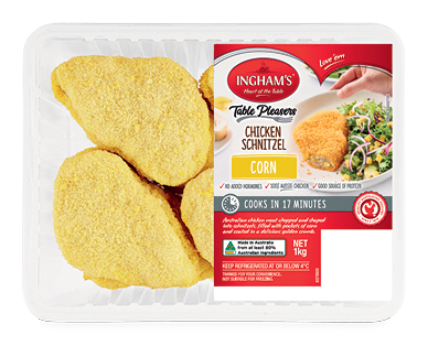 Ingham's Chicken and Corn Schnitzel 1kg