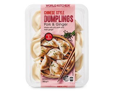 World Kitchen Pork & Ginger Dumplings 300g